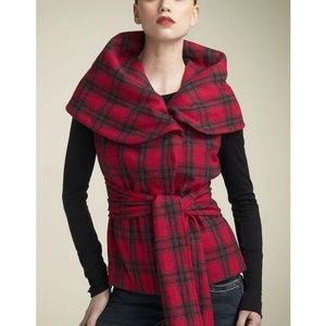 Chulo Pony Gretchen puffer buffalo plaid Vest